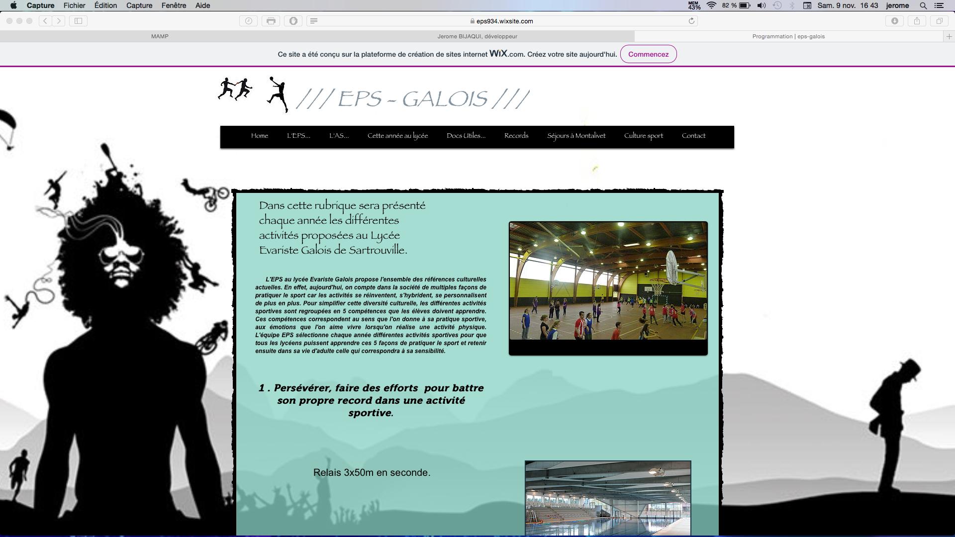 Site EPS d'un lycée